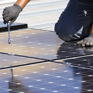 Solar Panel Installation and Worker